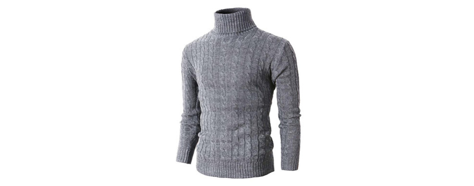 h2h mens casual sweaters knitted turtleneck