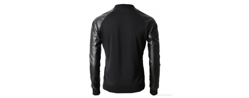 h2h slim fit varsity baseball bomber jacket