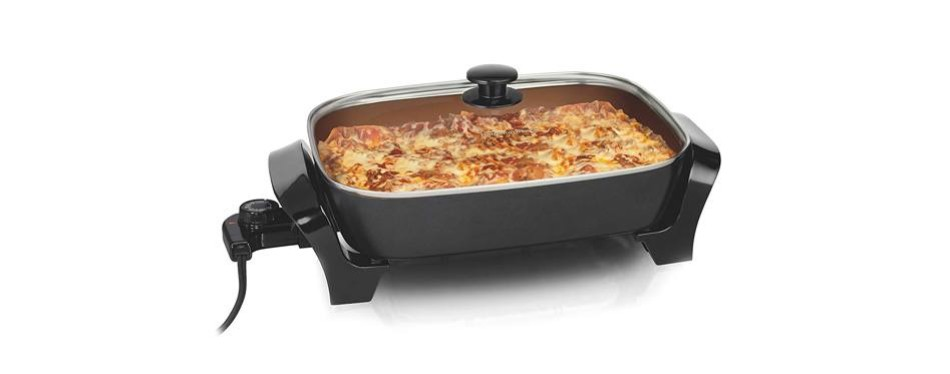 hamilton beach deep dish durathon ceramic electric skillet