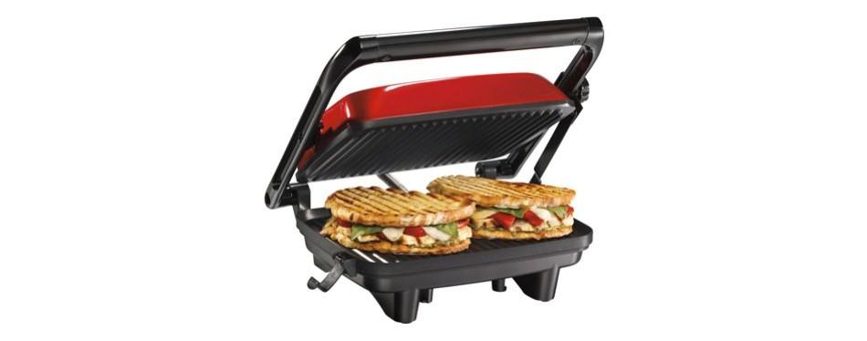 hamilton beach panini press gourmet sandwich maker