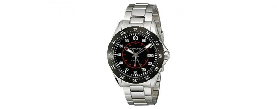 hamilton men's khaki aviation automatic stainless steel watch
