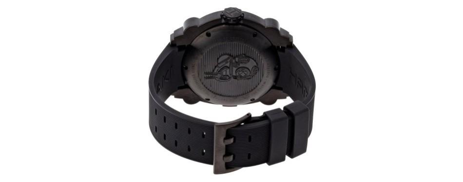 hamilton men's khaki navy belowzero black dial watch