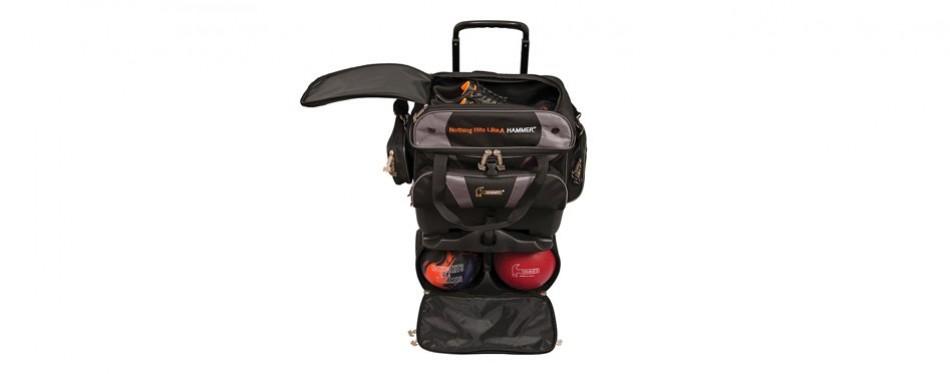 hammer premium 4-ball stackable bowling bag