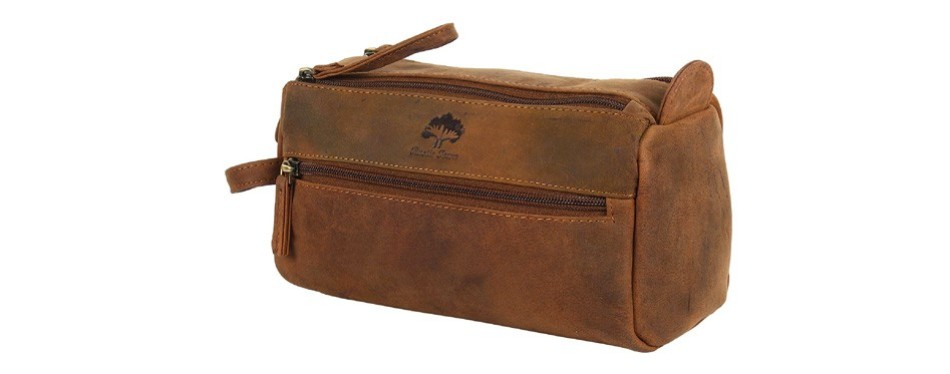 handmade buffalo dopp kit by rustictown