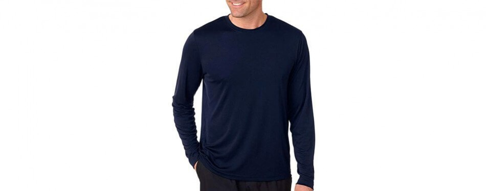 hanes cool dri long sleeve fishing shirt