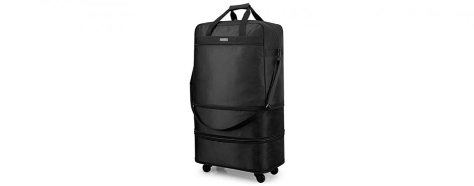 hanke expandable foldable suitcase tote luggage rolling duffel bag