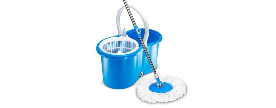 hapinnex easy spin 360° press mop bucket set