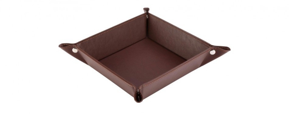 happydavid leather bedside storage tray