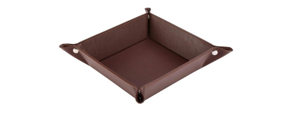 happydavid leather bedside storage tray
