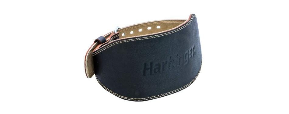 harbinger padded leather contoured weightlifting belt