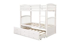 harper & bright designs solid wood bunk bed for kids