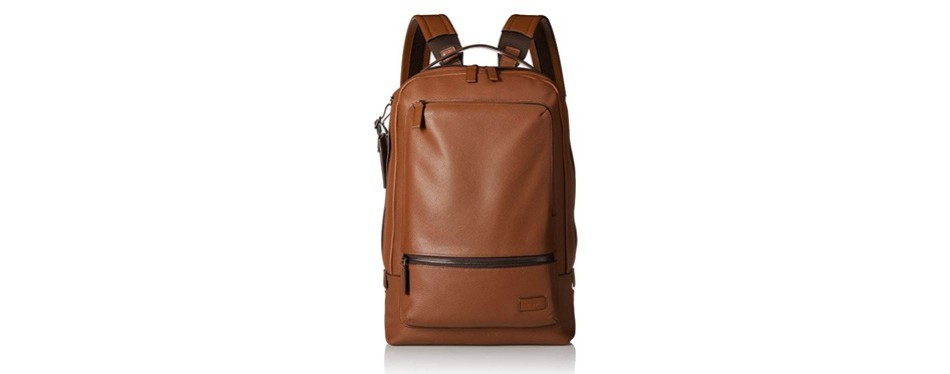 harrison bates backpack in brown leather