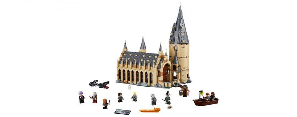 harry potter hogwarts great hall lego castle set