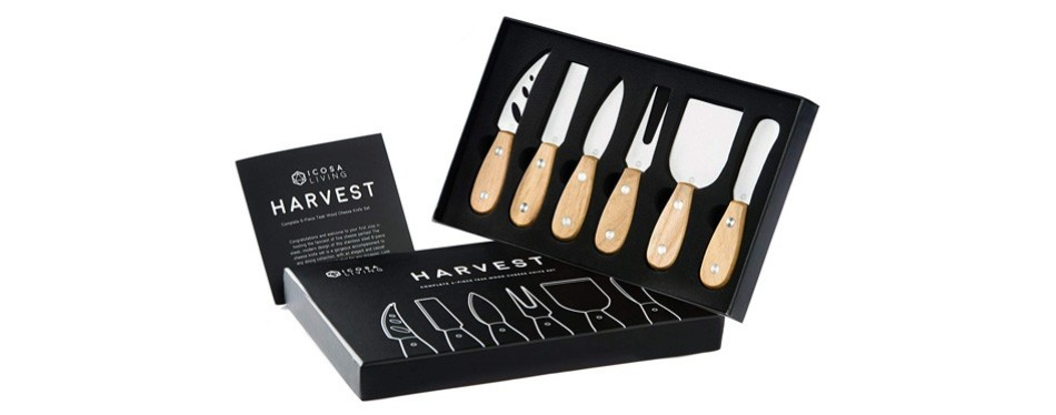 harvest cheese knife set, by icosa