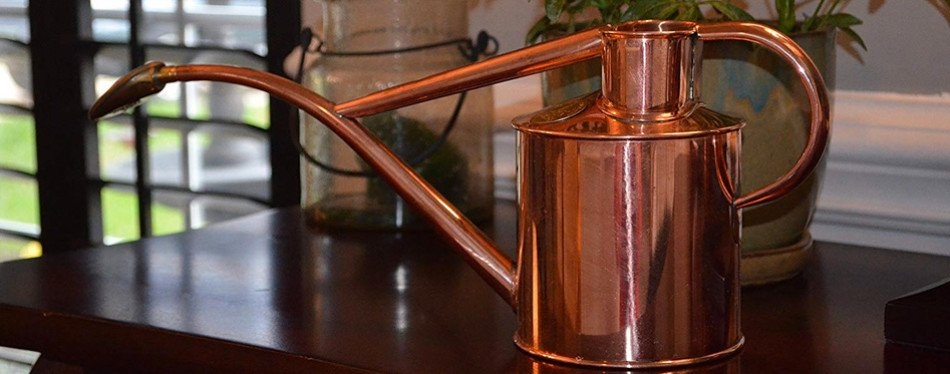 haws indoor copper watering can