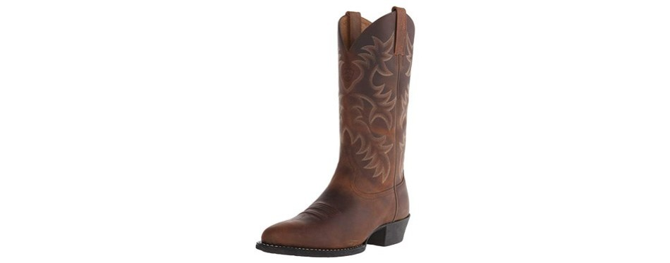 heritage r toe western cowboy boot