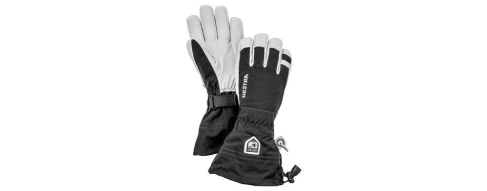hestra ski gloves army leather heli