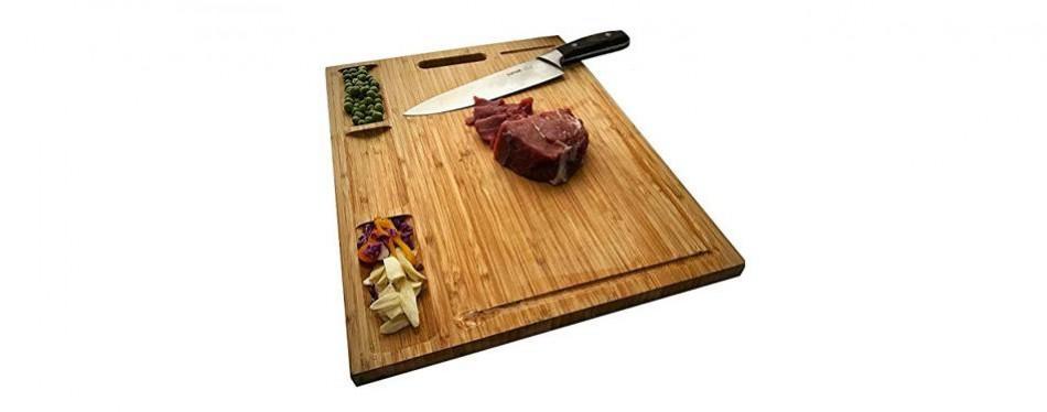 hhxrise venfon large organic bamboo cutting board