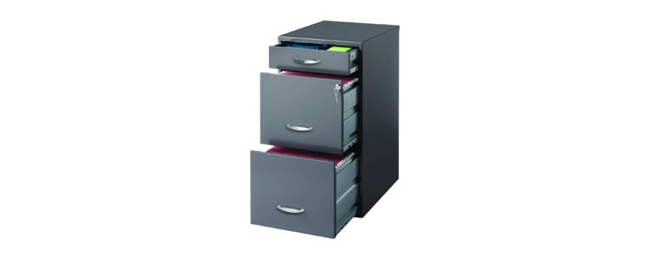 hirsh soho 3 drawer file cabinet