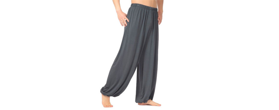 hoare men's super-soft modal spandex harem yoga pants