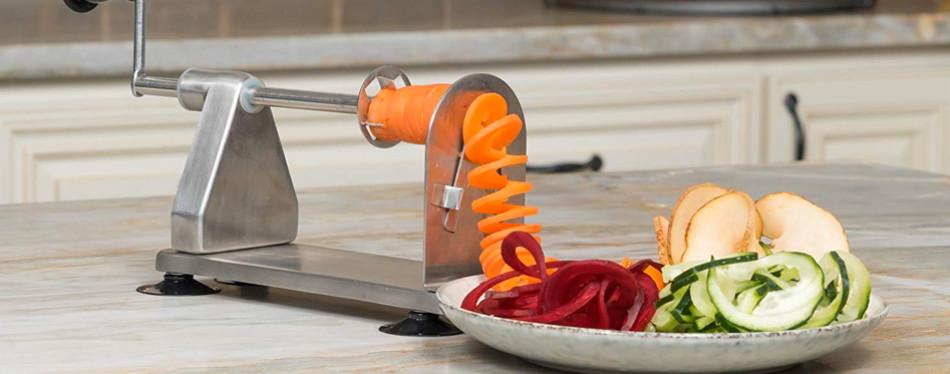 homarden 3 blade stainless steel vegetable spiral slicer