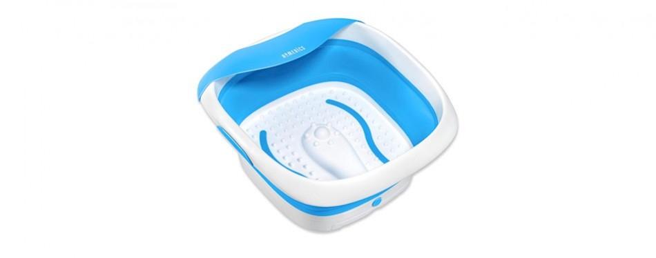 homedics compact pro spa collapsible foot bath