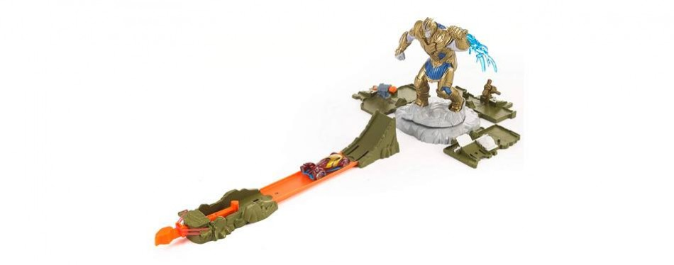 hot wheels marvel showdown playset