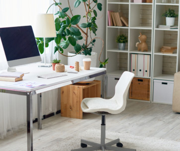 how to configure a home office in a studio apartment