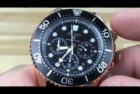 SEIKO Prospex Sea Diver's Chronograph Solar Sports Watch Rose Gold