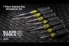 Klein Tools 85078 Cushion Grip Screwdriver Set
