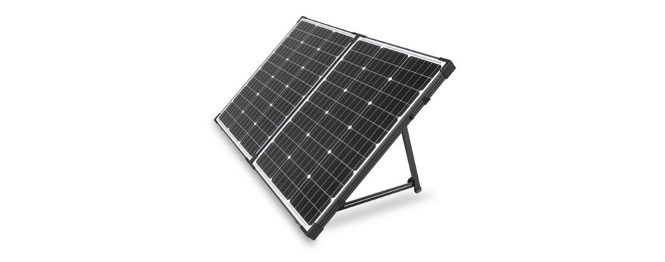 hqst 100 watt 12 volt portable solar panel suitcase