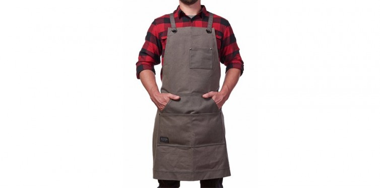 Hudson Durable Goods Heavy Duty Waxed Canvas Work Apron