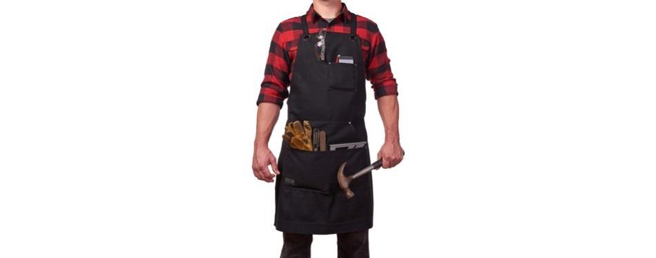 hudson durable goods - heavy duty waxed canvas work apron