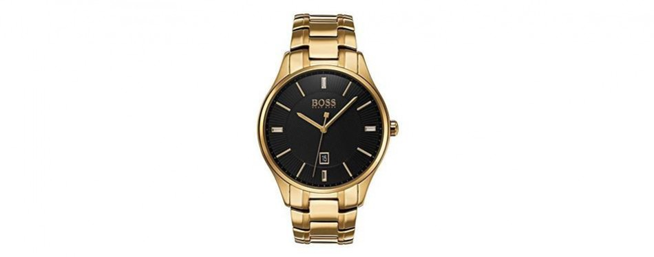 hugo boss 1513521 governor men's watch gold 44mm stainless steel