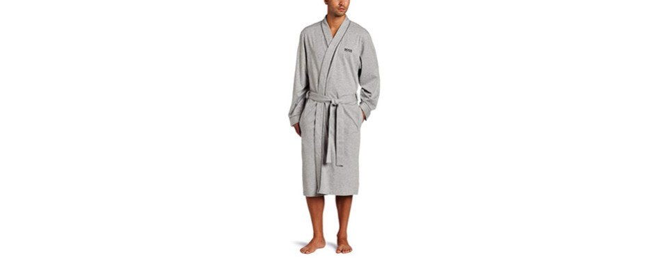 hugo boss cotton kimono robe