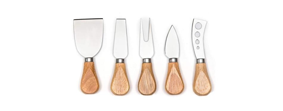 hullr premium stainless steel cheese knife set