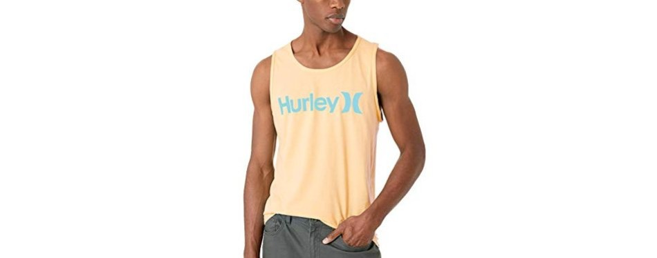 hurley men's one & only graphic tank top