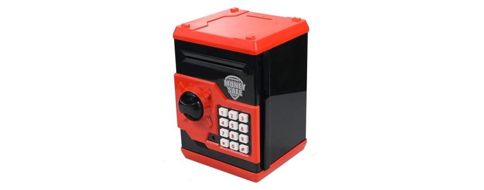 husan kids code electronic piggy banks mini atm coin box