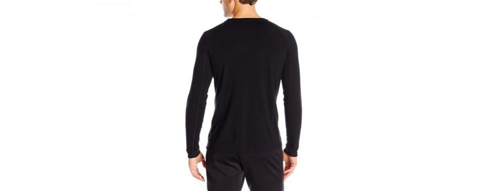 ibex wool men's crew neck base layer top