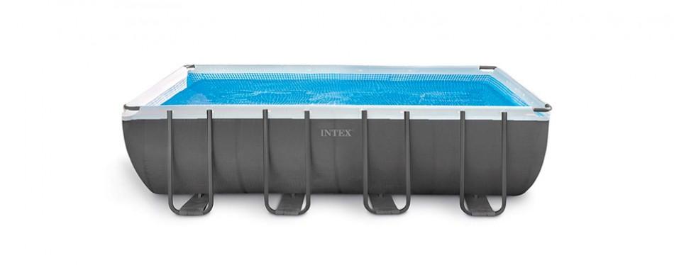 intex 18ft x 9ft x 52in ultra frame rectangular pool set