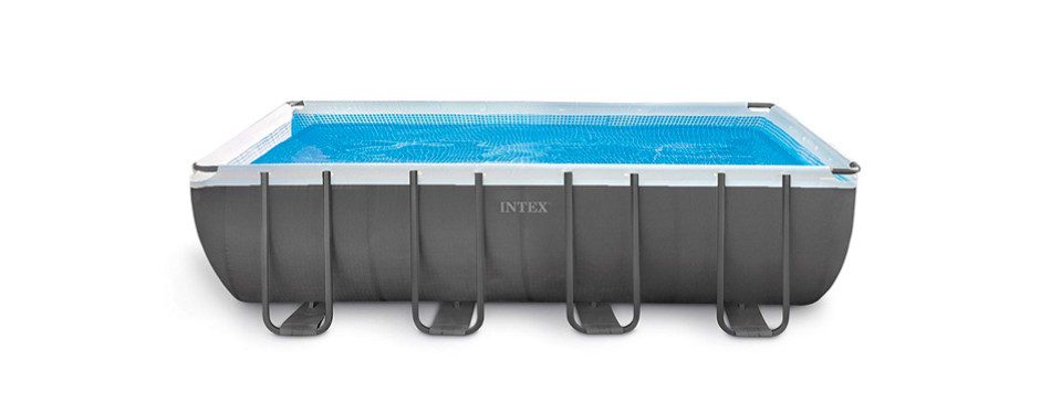 intex 18ft x 9ft x 52in ultra frame rectangular pool set
