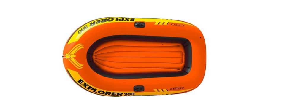 intex explorer 300, 3-person inflatable boat