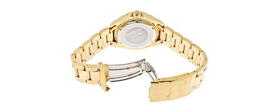invicta men's 14124 pro diver 18k gold watch