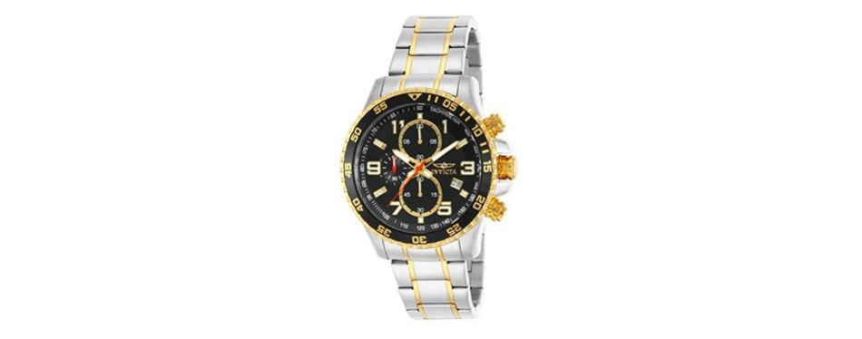 invicta men's 14876 specialty chronograph 18k gold