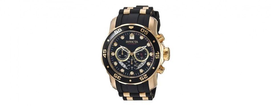 invicta men's 6981 pro diver analog swiss chronograph