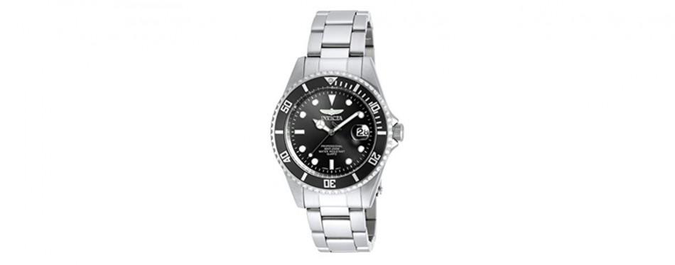 invicta men's 8932ob pro diver analog quartz silver