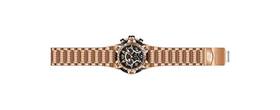 invicta men's speedway quartz multifunction rose gold watch