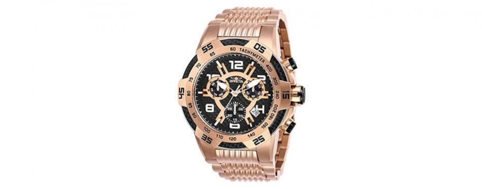 invicta men's speedway quartz multifunction rose gold watch