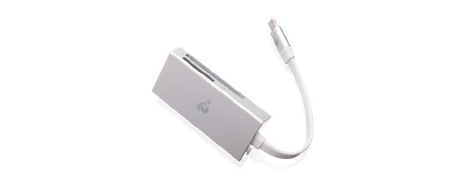 iogear 3-in-1 usb-c quantum card reader