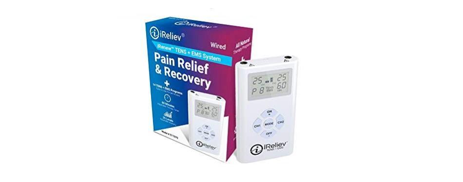 ireliev tens + ems combination unit muscle stimulator